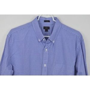 J CREW Large Slim Plaid Shirt Button Down Gingham